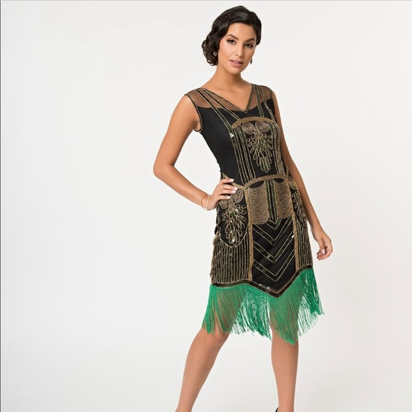 1920's Plus Size Flapper Dress Great Gatsby NWT